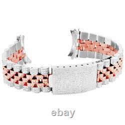 Mens Rolex DateJust Two Tone Custom Real Diamond Jubilee Watch 36MM Band 5.5CT