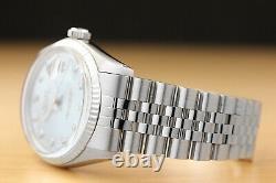 Mens Rolex Datejust Ice Blue Diamond 18k White Gold & Stainless Steel Watch