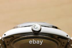 Mens Rolex Datejust Red Vignette Diamond Ruby 18k White Gold & Steel Watch 16014