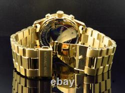 Micheal Kors Gold 45 MM Stainless Steel Watch with Custom Set Diamonds 2.0 ct