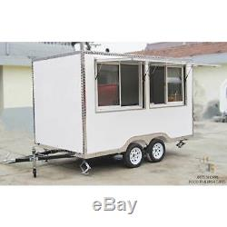 Mobile Food Cart Trailer CE Certified, Stainless Steel, Customized Food Trucks