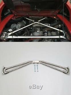 Mr2 sw20 sw21 TRD style Front & Rear X brace strut bar 91-95 3sgte turbo & nonT