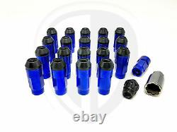 NGR DUAL Lug Nuts 20 Set Stainless Steel + Aluminum (BLUE)