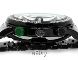 New Custom Mens 101 G Black PVD Real 44 MM Diamond Gucci Ya101331 Watch 3.5 Ct