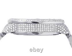 New Full Mens 44MM Gucci 101 G-Chrono Silver Dial Diamond Watch YA101201 12.5 Ct