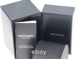 New Men's Movado authentic Temo 0605903 0.75ct. Aprx. Custom set Diamond watch