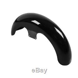Painted Black 21 Wrap Front Fender For Harley Davidson Touring Custom Baggers