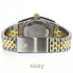 Rolex 36mm Datejust Grey Roman Numeral Dial Two Tone Jubilee Watch Model 16013