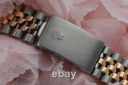 Rolex 36mm Datejust Watch Pink Mother of Pearl Dial 2 Tone Jubilee Band