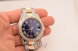 Rolex 41mm Datejust 2 Two Tone Men's Custom Watch VS Diamonds 13Ctw