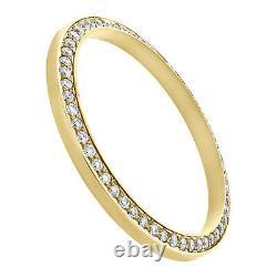 Rolex DateJust / Day-Date Custom Round Diamond Steel Bezel Fits 36mm Watch 1 CT