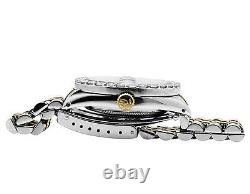 Rolex Datejust 2 Tone 36MM 18K Stainless Steel Custom Dial Diamond Watch 5.5 Ct