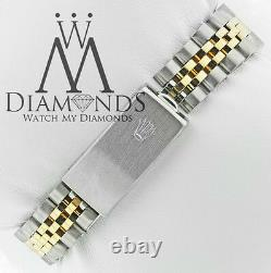 Rolex Datejust Custom Diamond Bezel & Custom Champagne Dial 2 Tone Watch