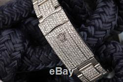 Rolex Datejust II 41mm Rainbow Dial & Bezel Fully Iced Out SS Men's Watch 116300