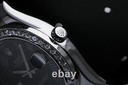 Rolex Datejust II Custom Set Diamond Bezel Stainless Steel 41mm Men's Watch