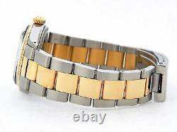 Rolex Datejust Mens 2Tone Gold & Stainless Steel Blue Vignette Diamond 1601