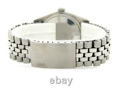 Rolex Datejust Mens SS Stainless Steel Watch Jubilee Band Blue Dial 1603