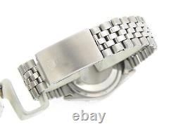 Rolex Datejust Mens Stainless Steel & 18K White Gold Black Watch Jubilee 1601