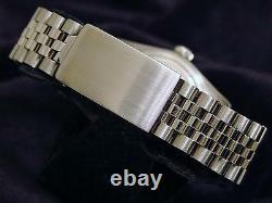 Rolex Datejust Mens Stainless Steel Black Diamond Dial & 1ct Diamond Bezel Watch