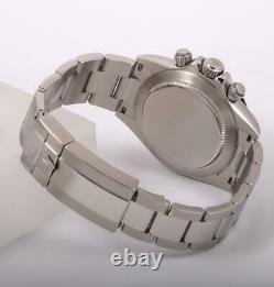 Rolex Daytona 116520 S/Steel 40mm Watch-Custom Black Arab Dial-Black Ceramic
