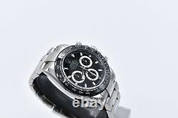 Rolex Daytona Cosmograph 116520 Black Dial Custom Ceramic Bezel Men's Watch