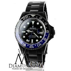 Rolex GMT Master II Batman Black Dial & Black and Blue Bezel Stainless Steel