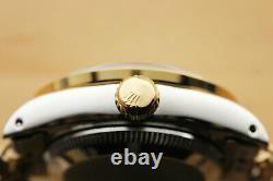 Rolex Ladies Datejust 18k Yellow Gold Diamond Sapphire & Steel Blue Dial Watch