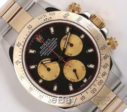 Rolex Men Daytona 116523 18k Gold Two Tone 40mm Watch-Custom Paul Newman Dial