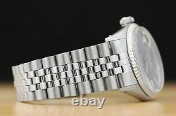 Rolex Mens Datejust Blue Dial 18k White Gold & Stainless Steel Quickset Watch