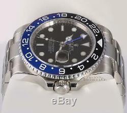 Rolex Mens GMT Master-II 116710LN Steel 40mm Custom Batman Blue Ceramic Bezel