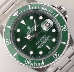 Rolex Submariner 16610 Date S/Steel 40mm Watch-Custom Green Ceramic Bezel & Dial