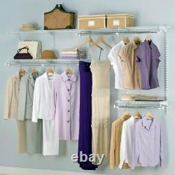 Rubbermaid Configurations 4-8 Feet Custom DIY Closet Organizer Kit, White
