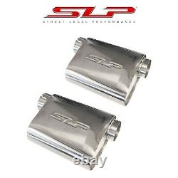 SLP PowerFlo Stainless Steel 3 Performance Exhaust Mufflers Pair