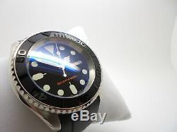 Seiko Custom Mod Diver's Automatic Submariner Skx007 7s26'boat Master