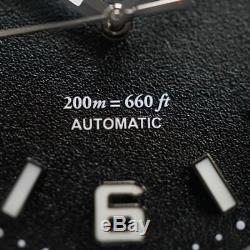 Seiko NH35 movt Custom Automatic Mod Black Granulated Diver Yobokies Dagaz