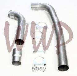 Stainless Off Road Race 4 Down Pipe Kit 03-07 Ford F250/F350 6.0L Turbo Diesel