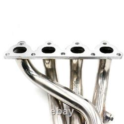 Stainless Racing Exhaust Manifold Header Downpipe for HONDA CIVIC 88-00 CRX