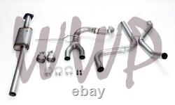 Stainless Steel 2.25 Cat Back Exhaust System 13-18 Ford Focus ST 2.0L Ecoboost