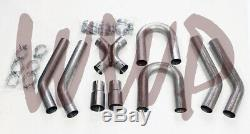 Stainless Steel 2.50 Universal Exhaust Builder X-Pipe Tubing Kit LS Engine Swap