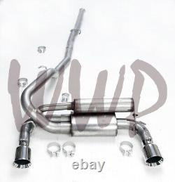 Stainless Steel 3Dual Cat Back Exhaust System 16-19 Ford Focus RS 2.3L Ecoboost