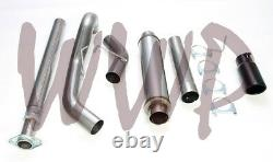Stainless Steel 4 Cat Back Exhaust System & Black Tip 15-20 Ford F150 2.7L/3.5L