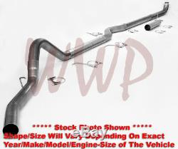 Stainless Steel 4Turbo Back Exhaust System Kit 08-10 Ford F250 F350 6.4L Diesel