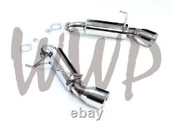 Stainless Steel Axle Back Exhaust Muffler For 09-20 Nissan 370Z Infinti G37 3.7L