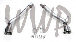 Stainless Steel Dual 3 Axle-Back Exhaust Muffler Delete 10-15 Chevy Camaro 6.2L