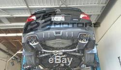 Tsudo quad Ti-burnt tips catback exhaust for FA20 WRX 12 13 14 15 16 17 18 4dr