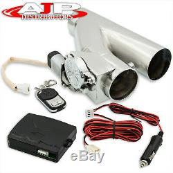 Universal 3 75mm Electric Catback Exhaust Flange Cut Out Piping +Remote Control