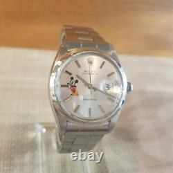Vintage Rolex 6694 Oyster Date After Disney Mickey Mouse Custom Dial Mens Watch