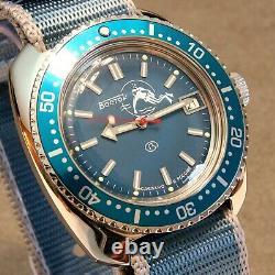 Vostok Amphibia Custom'Scuba Dude' Auto Dive Watch, New, Boxed, UK seller