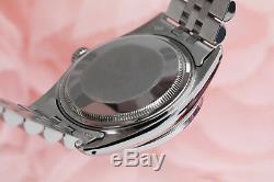 Women's Rolex 36mm Datejust Stainless Steel Metallic Pink Diamond Dial Watch