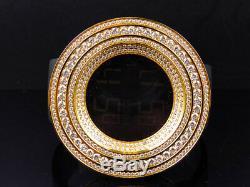 XL Men Jojino/Joe Rodeo 53mm Custom Simulated Diamond Watch In Yellow Gold Steel
